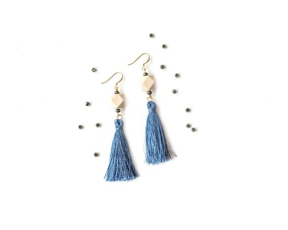 Pyrite Tassel Diffuser Earrings (Gold)