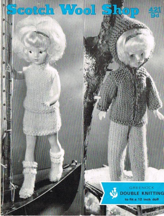 12 Dolls Clothes Knitting Pattern Barbie Sindy