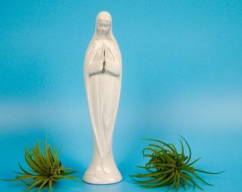 Ceramic Mid Century Virgin Mary White Made in Japan