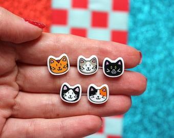 Cute cat pins, cat brooch, cat lapel pin, cat gifts, cat jewellery, cat lover gift, crazy cat lady, cat pins, lapel pins, cute pins