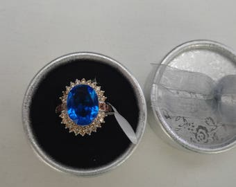 Woman Ring - Lazarit 24ct with zirconia 4ct Made by Ulla Toussaint 1932