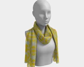 "Beautiful Scarf, Head Scarf, ""Lemon Ribbon"", Made to order"""