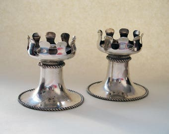 Pair of beautiful candlestick - candelabra - silver plated