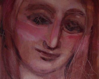 """Painting. Acrylic paints. Portrait. """"Madonna of Autumn 2"""""""