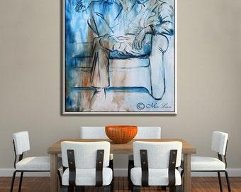 Canvas Wall Art, Large Wall Art, Modern Wall Art Abstract Print, Figurative Art, Wall Canvas Art, Modern Canvas Art, Large Canvas Art