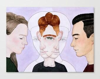Original Illustration • Bisexual Invisibility #2
