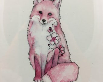 Spring Fox Watercolor - Small Painting