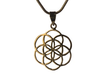 Seed of Life Pendant Necklace Spiritual jewellery Yogi Jewellery Geometry Jewellery Handmade Free UK delivery BP2