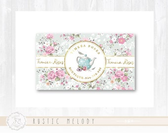 Business Card Thank You Card Gift Card Elegant Card Gold Logo Events Logo Boutique Logo Shabby Chic Card