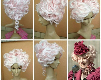 Effie wig commission pink hunger games cosplay costume