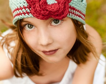 A Flower for Annabelle - Crochet Hat Pattern - Digitial Download