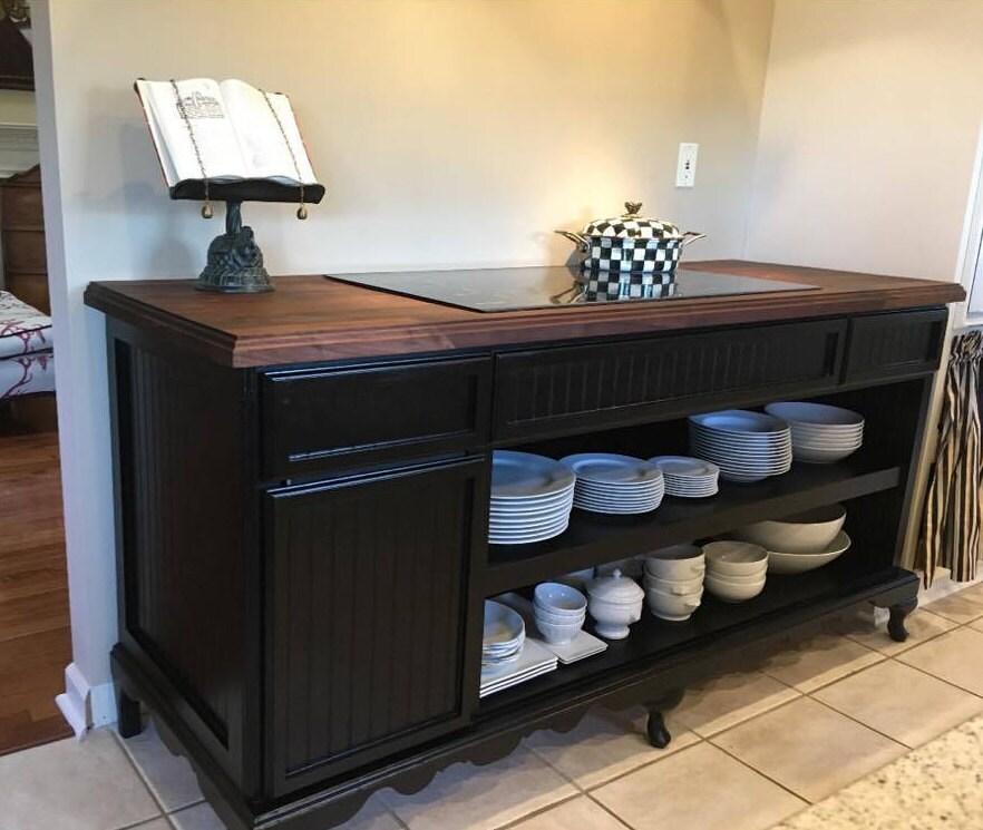 Kücheninsel mit Lagerung Buffet Tisch Queen Anne Shabby