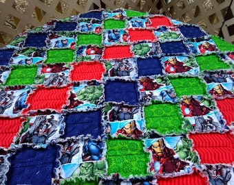 Avengers Assemble! Rag Quilt