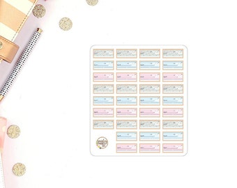Cheque Planner Stickers