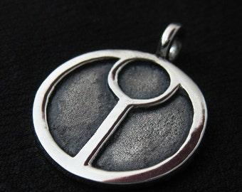 Silver Tau pendant