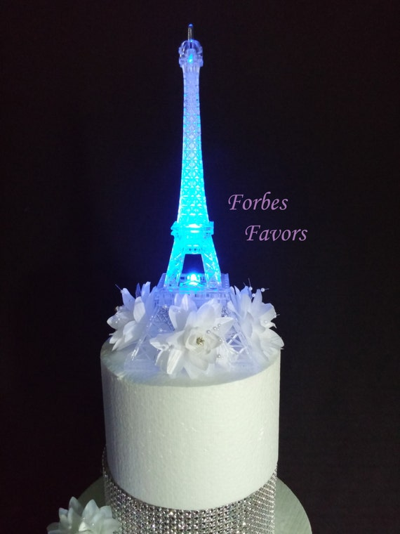 wedding cakes with led lights led eiffel tower light up cake topper wedding cocktail table 26053