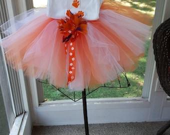 Clemson Tutu outfit, Orange and White Tutu