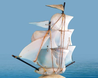 Mother Of Pearl Clipper Ship