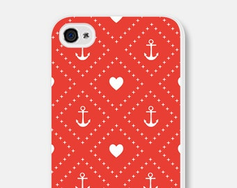 iPhone 6 Case Anchor iPhone 6 Plus Case iPhone 5s Case Nautical iPhone 5 Case Red Anchor iPhone 5c Case Anchor 4th of July