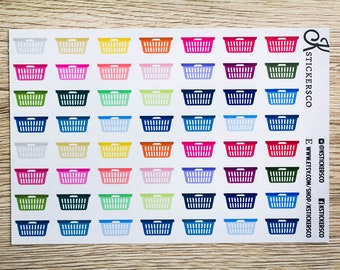 Multi Colour Laundry Cleaning Planner Stickers for Erin Condren and Recollection Lifeplanner