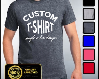 Custom T-shirt, Mens Custom Shirt, Personalized T-shirts, Customized Apparel, Custom Tees