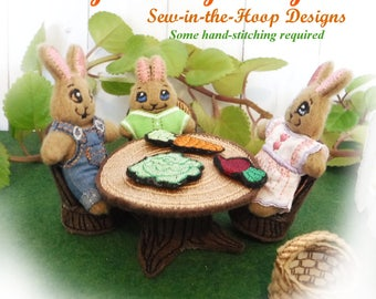 machine, embroidery, designs, patterns, bunny, easter,  bunnies, art, hus, jef, pes, vip