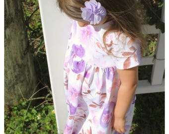 Sweet Pea Dress, baby dress, toddler dress, girl dress, easter dress, spring dress, flower dress, summer dress, easter outfit, violet flower