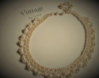 Vintage Edwardian Style Pearl Choker