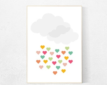 Cloud nursery, baby nursery room decor, kids room decor, baby gifts, nursery art, gender neutral, nursery prints girl, nursery prints boy
