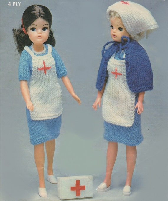 Dolls Clothes Pdf Knitting Pattern 11 12 Inch Dolly Barbie