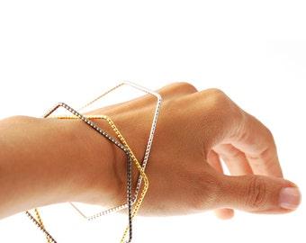 Geometric Bracelets Set of three