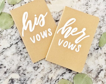 His and Hers Vow Booklets