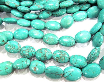 A+  Natural Turquoise Gemstone blue\purple oval egg Turquoise Beads Connector Turquoise necklace