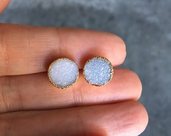 Druzy Earrings, Druzy Studs, Druzy Stud Earrings