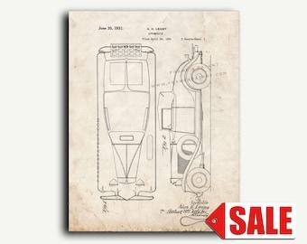 Patent Art - Automobile Patent Wall Art Print