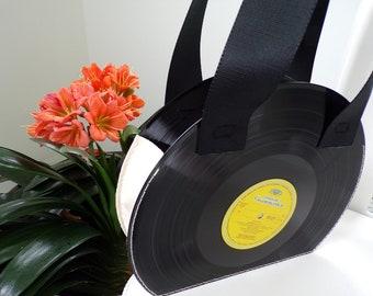 Recycled vinyl handbag
