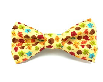 Autumn Harvest Removable Dog Bow Tie / Fall Dog Bow Tie