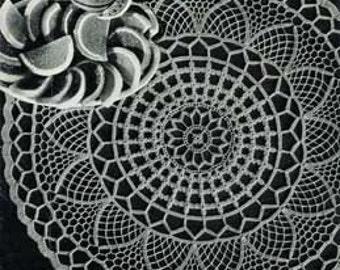 Cloverleaf Doilie Crochet Pattern PDF Instant Download