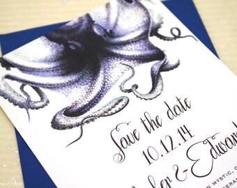 Octopus Save the Date for your Aquarium Wedding