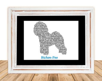 Bichon-Poo, bichon-poo, bichon-poo art, Gift under 30, Pet Gift, Dog Art, Pet Art, Pet Memorial