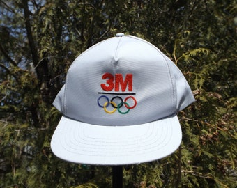 Olympics Hat Vintage 3M Collectible Olympic Sponsor Hat Vintage Snapback 90s Olympic Clothing Perfect Condition Snapbacks Hat Olympics Rings