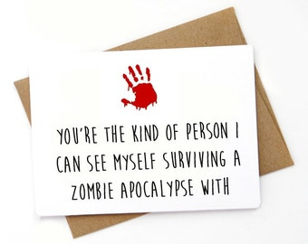 Funny Walking Dead Card, Love card, Card for boyfriend, Card for girlfriend, Naughty Card, Birthday Card, Anniversary Card