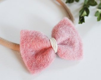Baby bow headbands - Felt Bows - Baby Headband - One Size Fits All