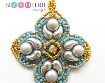 ZOLIBELLE pendant - instant download beading pattern with Zoliduo beads