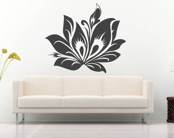 Flower sticker, flower wall decals, flower mural, Daisy, Daisy Decal, sticker, vinyl, wall, home wall decoration nr 261