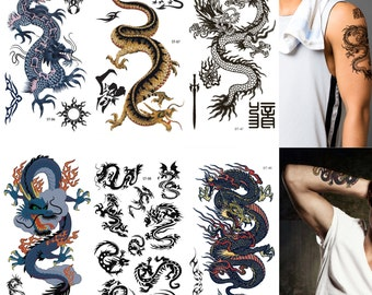 Supperb® 6-Sheets Mix Dragons Temporary Tattoos