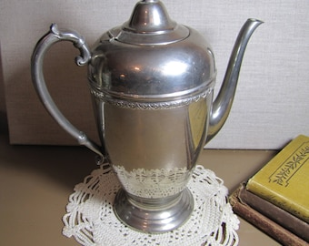 L. B. Silver Plated Coffee Pot