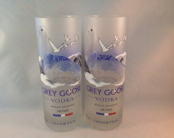 Set of 2 Tall Grey Goose Tumblers
