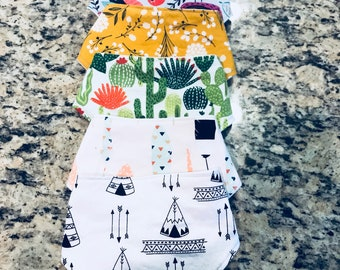Baby bandana bibs (set of 5)