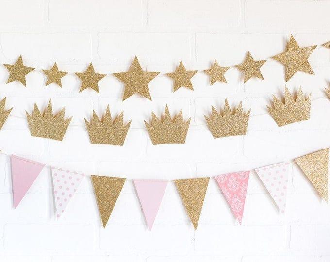 Twinkle Twinkle Little Star Banner, Metallic Gold Star Banner, First birthday banner, Star Garland,  Baby Shower Twinkle Twinkle Little Star